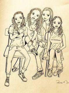 Eu, Hellen, Jéssica e Sahra.