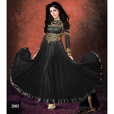 Latest Designer Black Floor Length Anarkali Suit