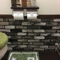 賃貸もOK❣️小さなトイレをブルックリン風にチェンジ♪ダイソーのフローリングマットは優秀♡ - 暮らしニスタ