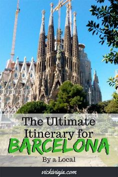 Are you planning a trip to #Barcelona? Then this might be the perfect article for you. Here you can find your Ultimate Barcelona #Itinerary with all the information you need to spend amazing 3 days (or more) in this beautiful capital of #Catalonia. You will find a lot of insider information from a #local. #Spain