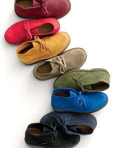 crewcuts made-in-Italy Macalisters. The suede desert boots he loves, right in time for back to school, in new colors that match his favorite slim-fit cords.