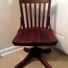 vintage antique oak desk chair lawyer office sheybogan crocker co