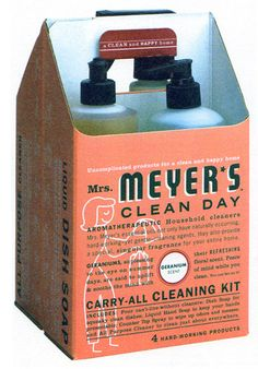 mrs meyer's cleaning products - design by Sharon Werner and Sarah Nelson, 2000