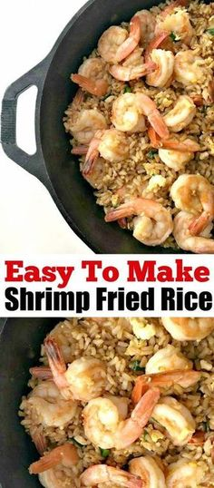 This easy to make shrimp fried rice is the perfect take out alternative and only takes 20 minutes to make! AD - This easy to make shrimp fried rice is the perfect take out alternative and only takes 20 minutes to make! Easy Shrimp Fried Rice Recipe, Shrimp And Rice Recipes, Easy Rice Recipes, Shrimp Dishes, Rice Dishes, Easy Dinner Recipes, Seafood Recipes, Asian Recipes, Easy Meals