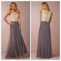 Buy wholesale fall bridesmaid dresses,gowns dresses along with jasmine bridesmaid dresses on DHgate.com and the particular good one- Two Piece Lace Bridesmaids Dresses A Line Crew Spaghetti straps Floor Length Wedding Women Wear Paolo Sebastian is recommended by voguedesign at a discount.