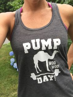Pump Day Workout Shirt.  Funny Workout Tank Top For Women.  Fitness Shirt & Workout Clothes.