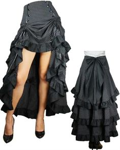 Steampunk Adjustable Pin Stripe Skirt only $65.95! Cyber Monday SALE! #steampunk #steampunkstyle #steampunkfashion #steampunkskirt #steampunkgoth #gothskirt #goth #gothic #gothicstyle #gothicfashion #burlesque #burlesqueskirt #alternative #alternativefashion