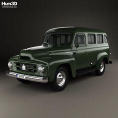 International Harvester R-110 Travelall 1953 3d model from Hum3d.com.