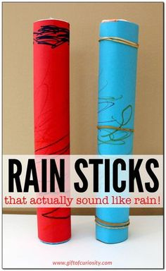 DIY rain stick craft | craft for kids | How to make a rain stick that actually works! || Gift of Curiosity