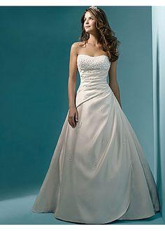 Exquisite Elegant Divine Satin Ball Gown Wedding Dress In Great Handwork