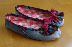 21centurydressmakers: How to Make a Pair of Cozy and Sweet Ballet Slippers from old denim