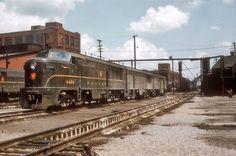 Pennsylvania Railroad FF20 #9456 in Columbus, Ohio on August 14, 1956.