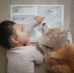 ❄❄❄ Pompon: Je sens qu'il va bientôt neiger... Philo: Oh oui, je voudrai un bonhomme de neige comme celui là ! ❄❄ PS: Pompon s'est finalement fait opérer à l'oeil pour poser une prothèse... il se remet tranquillement... .