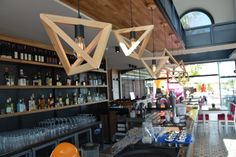 The BigMan Café & Restaurant by Kemal Serkan Tokis, Antalys- Cool Geometric pendant lights