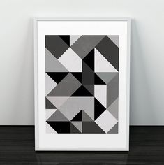 Abstract art Triangle pattern print Geometric by ShopTempsModernes