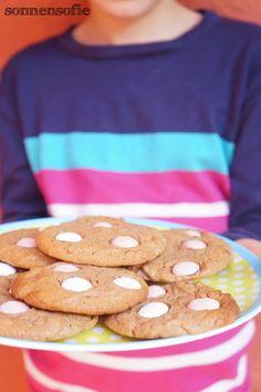 Schoko Cookies mit Schoko Linsen