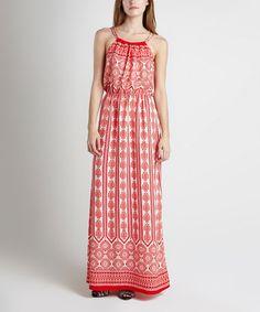 Love this Red & Kith Geometric Yoke Maxi Dress on #zulily! #zulilyfinds