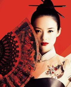 Portrait Asien mit Fächer
