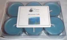 Mountain Lake tea lights - 6 pack by #DLitesbyDorene on @Etsy!