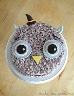 Witchy Halloween Owl Cake Tutorial | Make Me Cake Me
