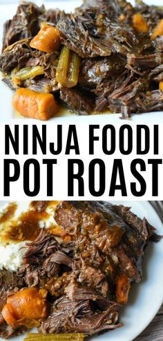 Easy Ninja Foodi Pot Roast is the perfect family dinner recipe. Made with a rich gravy, this pressure cooker pot roast is great for Sunday dinners, and the holidays alike! The best part is that it's also low carb, and keto friendly! Healthy Chicken Recipes, Beef Recipes, Family Recipes, Cooker Recipes, Pressure Cooker Pot Roast, Low Carb Dinner Recipes, Keto Dinner, Cauliflower Dishes, Healthy Family Meals