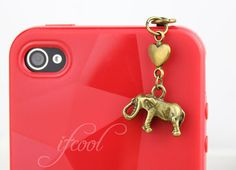 3.5mm Bronze Cute little elephant  Dustproof Plug For by ifcool, $1.00