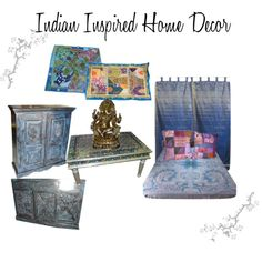 """Indian Inspired Home Decor"" by mogulinteriordesigns on Polyvore"