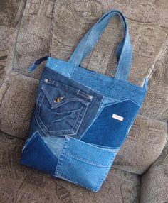 Цена: 280 грн. - Джинсовая сумка из разного джинса ручная работа Ручная Работа, #7628413, Цвета: Синий, Серый, Размер: One size. Купить в Шафе недорого