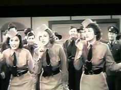"""The Andrews Sisters - Boogie Woogie Bugle Boy A clip from """"Buck Privates"""" from my VHS Tapes file. Christian Anders, Sister Songs, Jazz, Glenn Miller, 60s Music, Boogie Woogie, Music Clips, Vhs Tapes, Cinema"""
