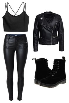 """""""Untitled #550"""" by juliatini-je on Polyvore featuring Sisters Point and Dr. Martens"""