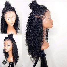 Follow @EssenceAQ Luffy Curly Pre Plucked Brazilian Non Remy Hair Glueless Full Lace Human Hair Wigs With Baby Hair For Black Womem Natural Color