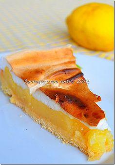 lemon pie My Recipes, Sweet Recipes, Dessert Recipes, Desserts, Sweet Treats, Lemon, Fruit, Food, Greek