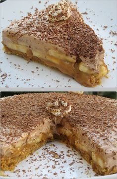 Greek Sweets, Greek Desserts, Greek Recipes, Tart Recipes, Dessert Recipes, Cooking Recipes, Fridge Cake, Banoffee, How Sweet Eats