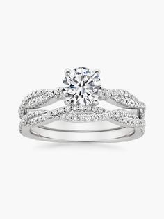 18K White Gold Petite Luxe Twisted Vine Matched Set