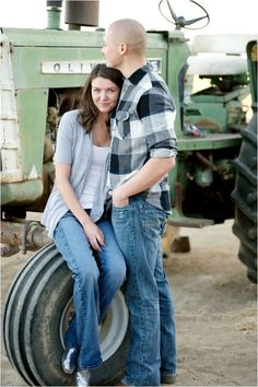 California Military Engagement Session by Megan Hayes Photography farming, tractor