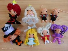 Alice in Wonderland Complete Cast string dolls - TOYS, DOLLS AND PLAYTHINGS