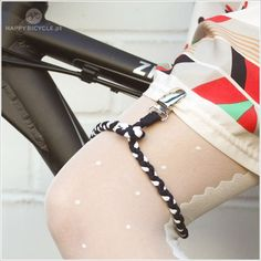 skirt garter! for riding your bike! not flashing people on the street - genius! find it in Happy Bicycle Store. #Beautiful #Bicycle #acessories