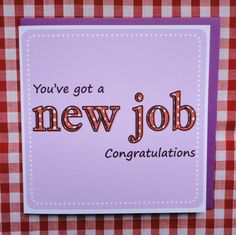 New Job card £2.25