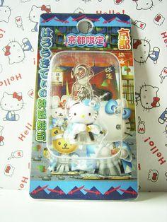HELLO KITTY GOTOCHI Mascot Figure Charm SOSHI OKITA JAPAN Samurai Sanrio 2005 NEW  2cm 17.99