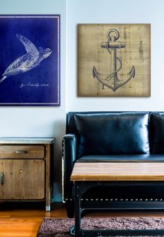 So #nautical is definitely my favorite theme for #house #decor. Turtles and anchors?! What more could I ask for?