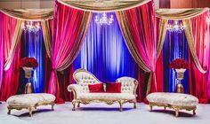 Royal and bold stunning reception stage #sarahkhaneventstyling #skes #weddingdecor #dcwedding #mdwedding #vawedding #indianwedding #pakistaniwedding #bengaliwedding