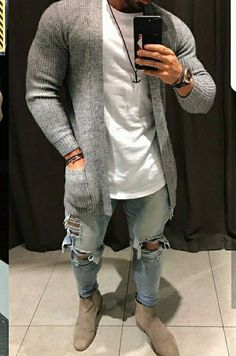 Winter Outfits Men, Stylish Mens Outfits, Mens Fashion Wear, Suit Fashion, Mode Man, Urban Apparel, Herren Outfit, Cardigan Fashion, Urban Outfits