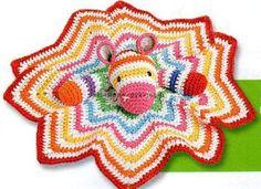 Зебра-одеялко вязаная крючком