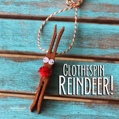 CHRISTMAS IN JULY Clothespin Reindeer Ornament!