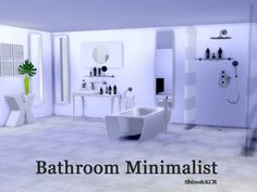 The Sims Resource: Bathroom Minimalist by ShinoKCR • Sims 4 Downloads