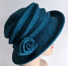 'Ocean' felted wool hat - 'The Crush' - designed to pack flat £49.00