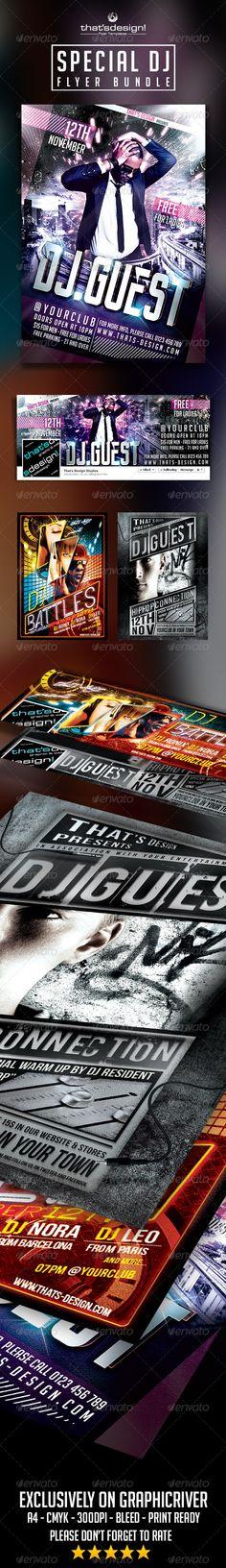 Special Dj Flyer Bundle Official website : http://thats-design.com/