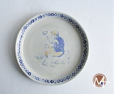 Handmade Decorative Plate with Man Taking a Selfie - Unique Piece The Imitation, Handmade Decorations, Delft, Stoneware, Decorative Plates, Workshop, Take That, Ceramics, Contemporary