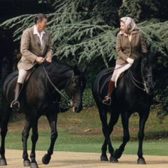 Ronald Reagan and Queen Elizabeth.  Is it pure coincidence that one of the greatest presidents just so happened to ride horses?