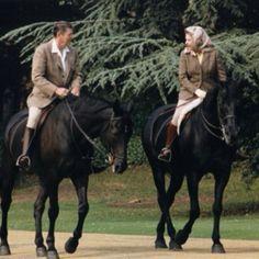 Ronald Reagan and Queen Elizabeth